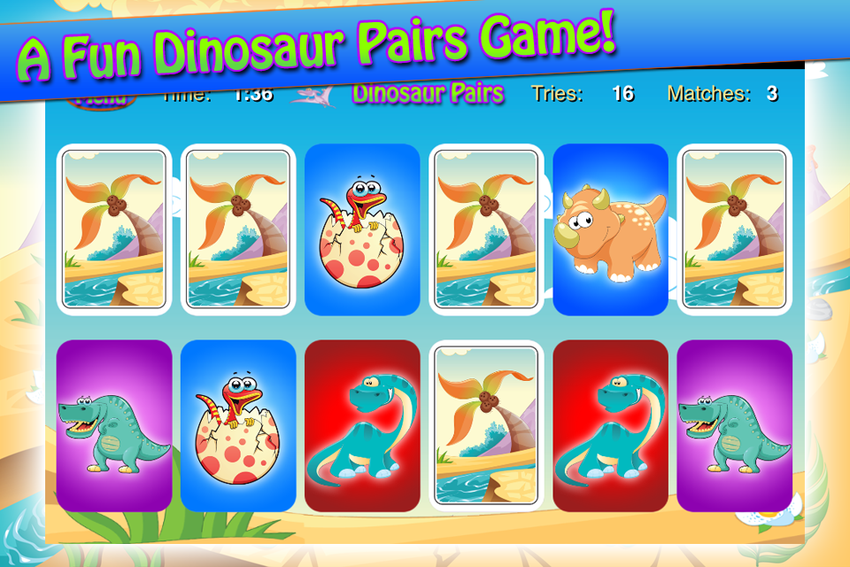 Screenshot Dinosaur Pairs
